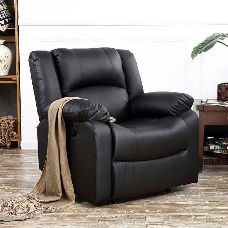 Black Cushioned Lift Chair