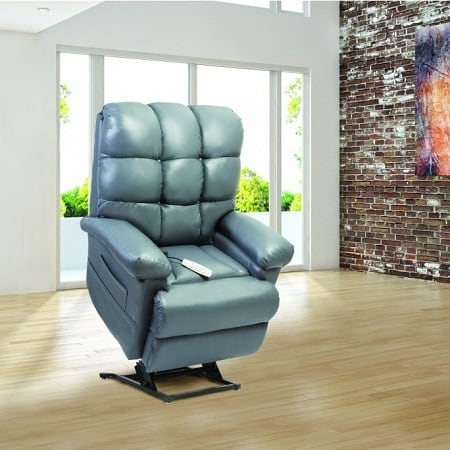 Blue Leather Lift Chair