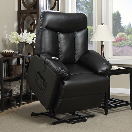 Black Ultraleather Lift Chair