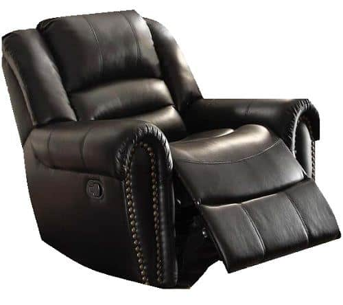 Homelegance 9668BLK-1 Glider Reclining Chair