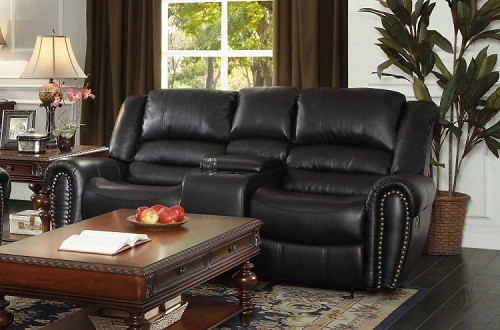 Homelegance 9668BLK-1 Glider Reclining Chair Together